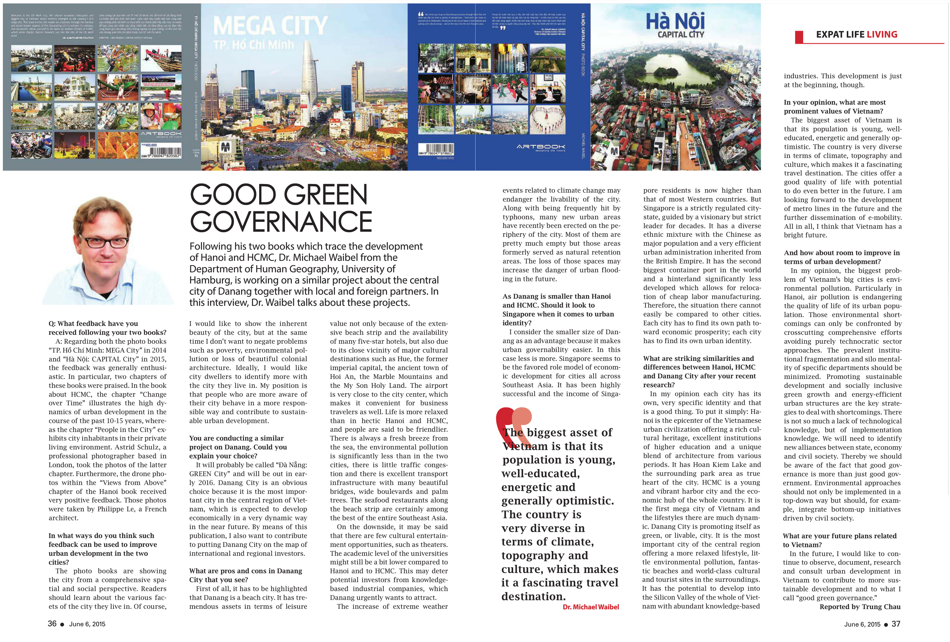 Saigon Times Weekly, No. 23 (1236), 06 June 2015- Good Green Governance_WAIBEL, p. 36-37